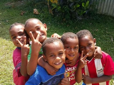 Meet the real Fijian kids in their own village on the Sigatoka River Safari Tour in Fiji