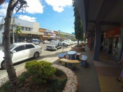 Nadi main street in Fiji