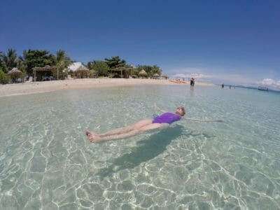 Swimming at South Sea Island in Fiji