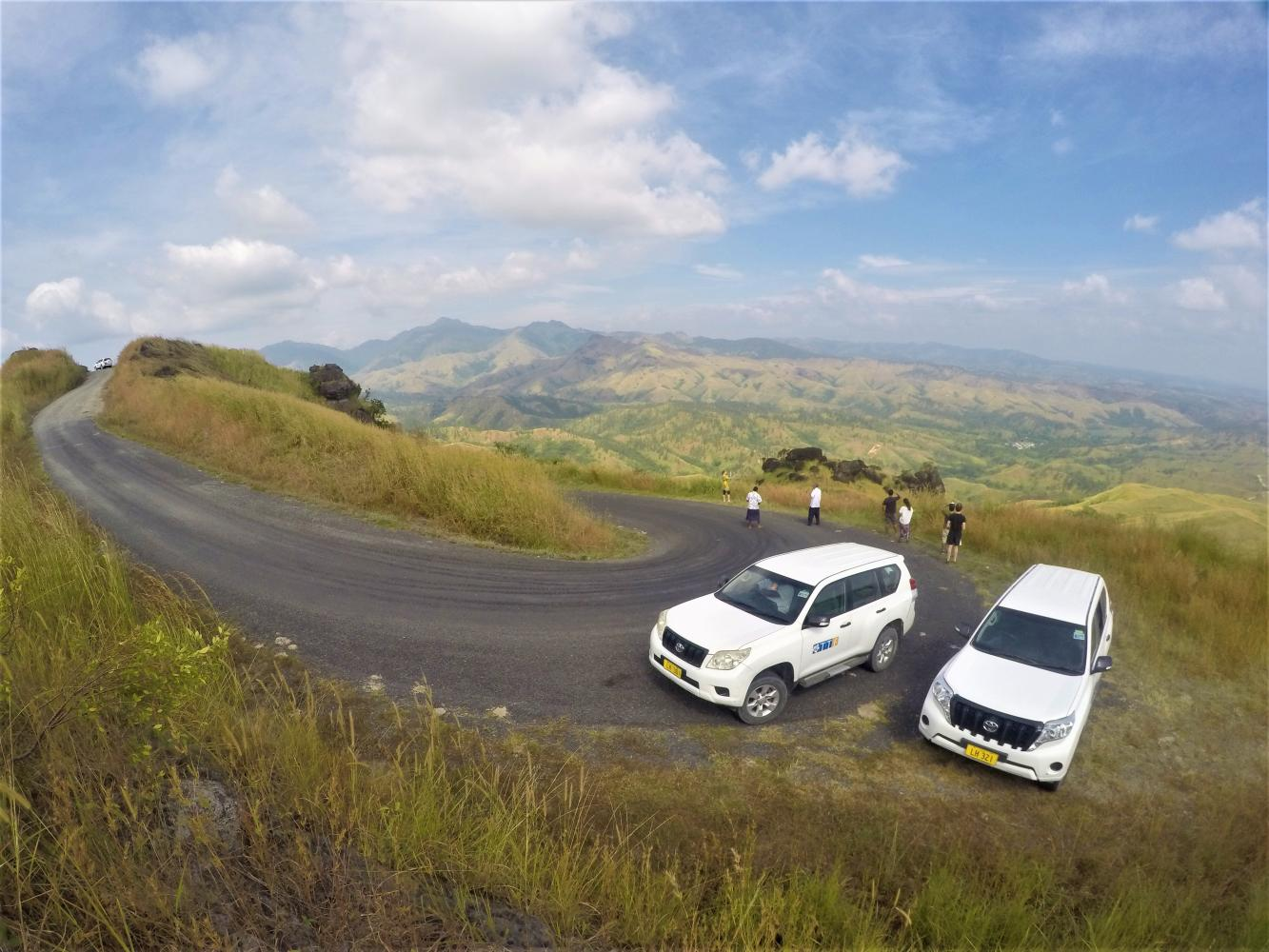 Drive high into the Nausori Highlands Hills, enjoy stunning views with a visit to the local village and school in Fiji