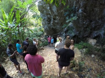 Explore the Nahehe Cave with lunch at a Fijian Village
