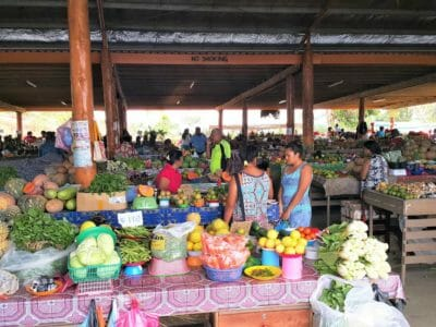 Fijian locals selling fresh fruit and veg at the Sigatoka local markets in Fiji