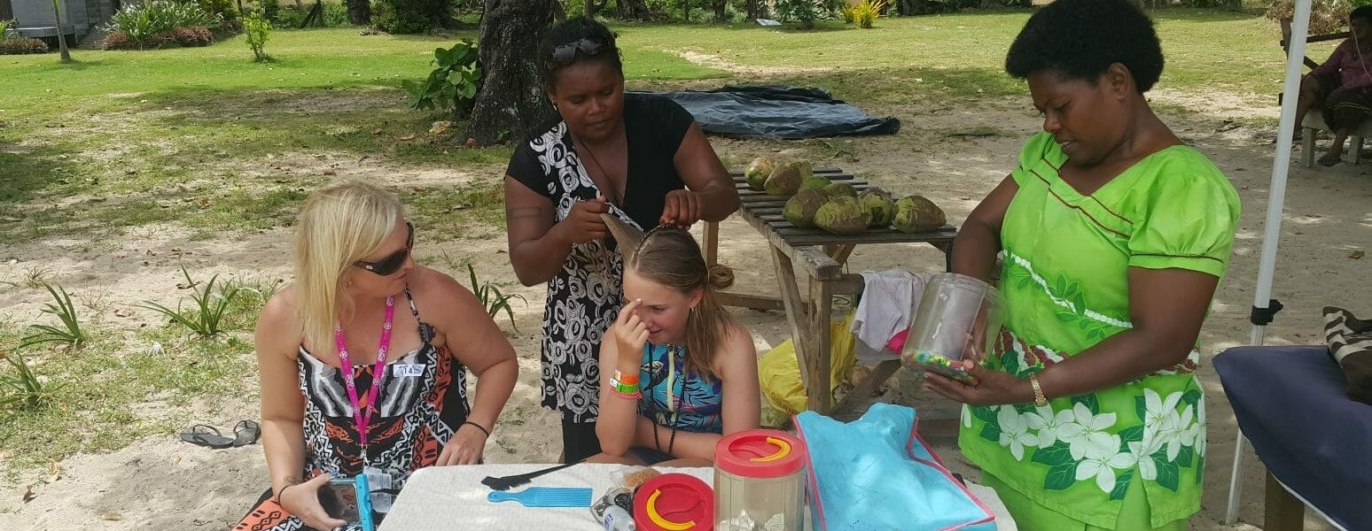 Hair Braiding at Natadola Beach Half Day Tours in Fiji
