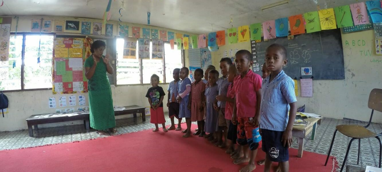 Half day tour to village school in Nausori highlands of Fiji - meet the kids