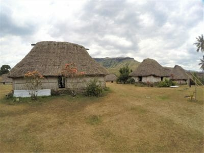 Historic Bures at Navala Village in Fiji
