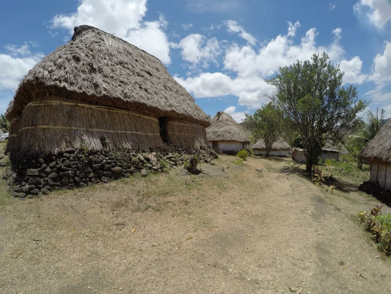 Historic bures at Navala Village on private tour in Fiji