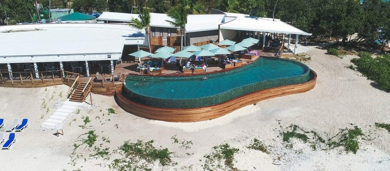 Inifinity swimming pool at Malamala Beach Club in Fiji-2