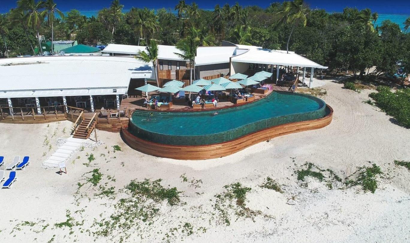 Inifinity swimming pool at Malamala Beach Club in Fiji-2