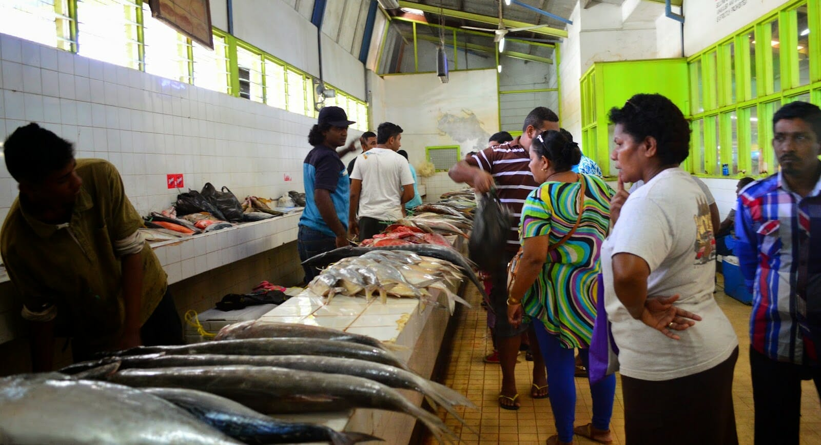 Lautoka Fish Markets on private guided tour in Fiji