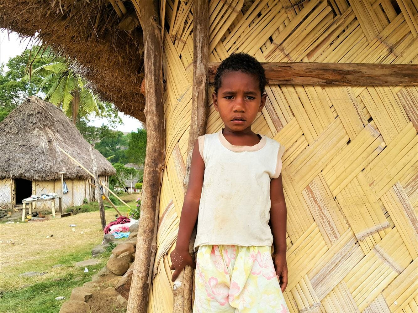 Meet the local Fijian kids in Navala Village on this private guided tour in Fiji