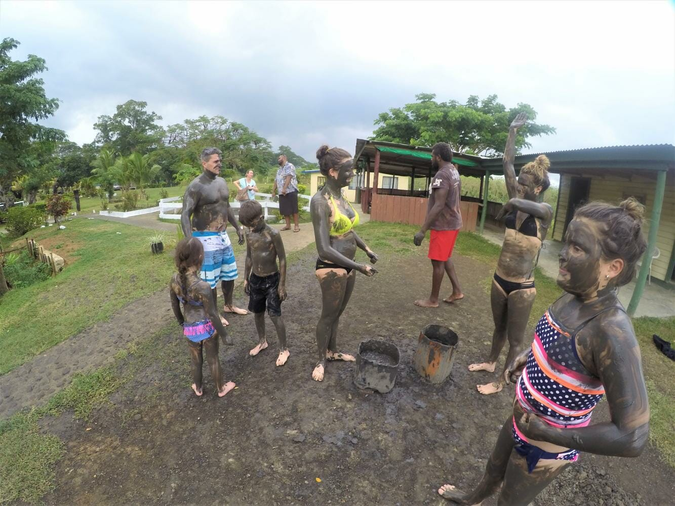Private tour to the Mud pools on the Zip Line adventure tour in Fiji