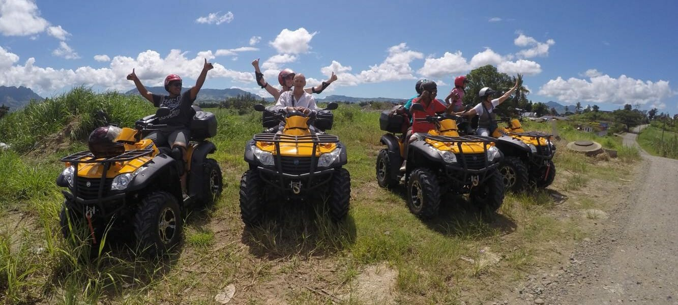 Quad Bike Tour to Zip Line through Nadi Farmland in Fiji
