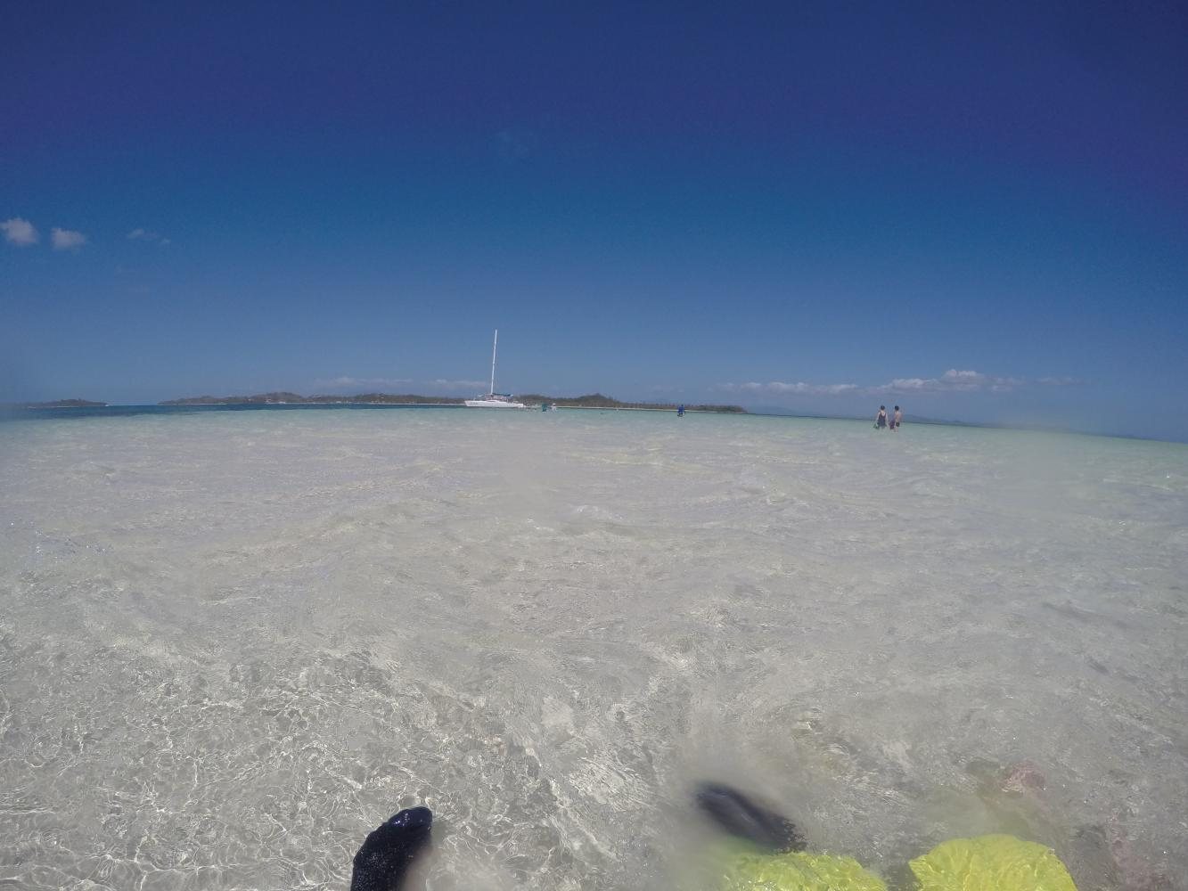 Sandbar on the Coral Cats day tour in Fiji