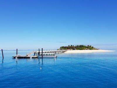 The new jetty at Tivua Island in Fiji