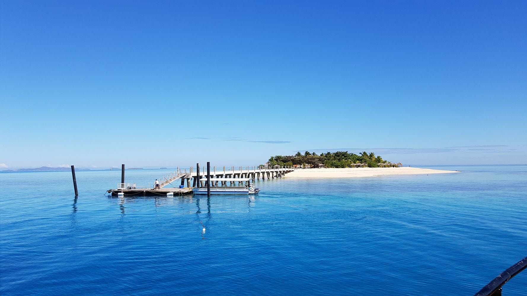 The new jetty at Tivua Island in Fiji
