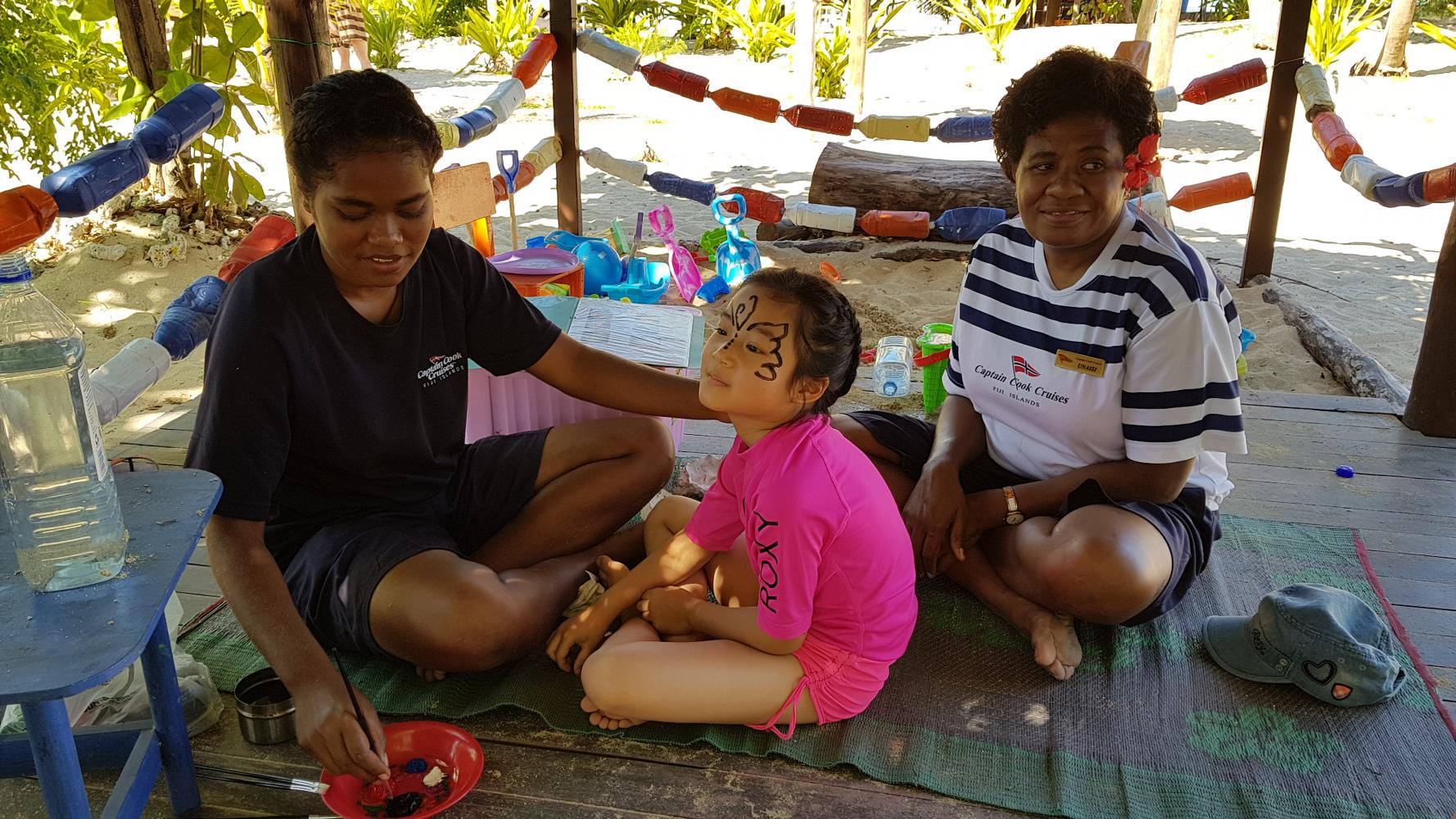 Tivua Island free kids club in Fiji