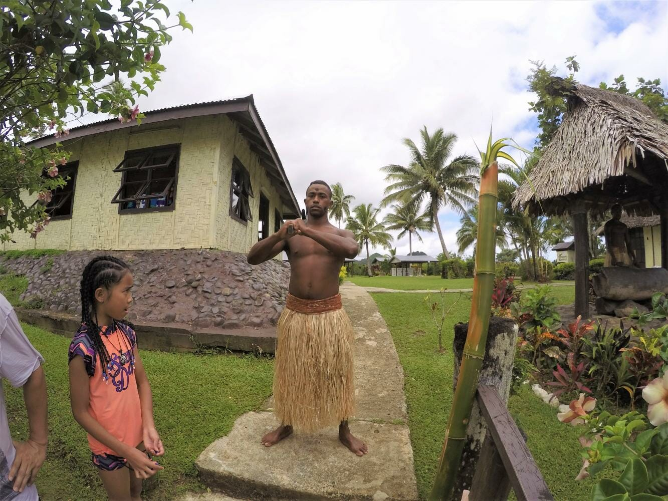 Traditional village welcome on the Jewel of Fiji tour in Fiji