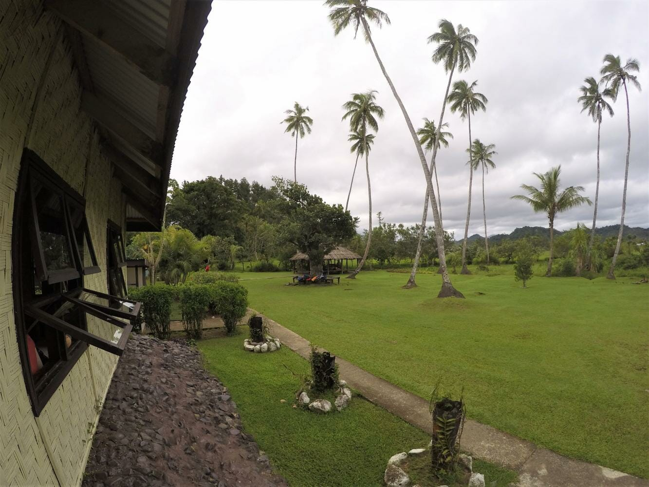 View of the Fijian village on tour with the Jewel of Fiji
