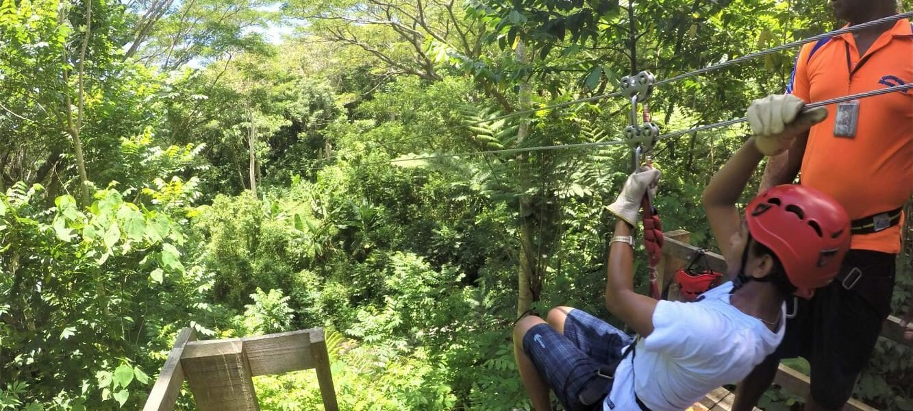 Zip Line tour with private tour by a local in Fiji, with waterfall walk