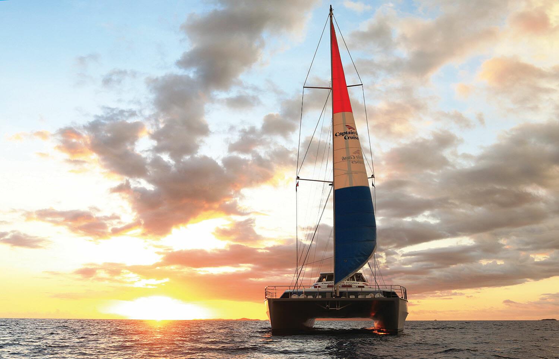 Captain Cook Sunset Dinner Cruise Fiji One catamaran
