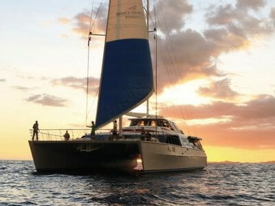 Captain Cook Sunset Dinner Cruise Fiji One catamaran