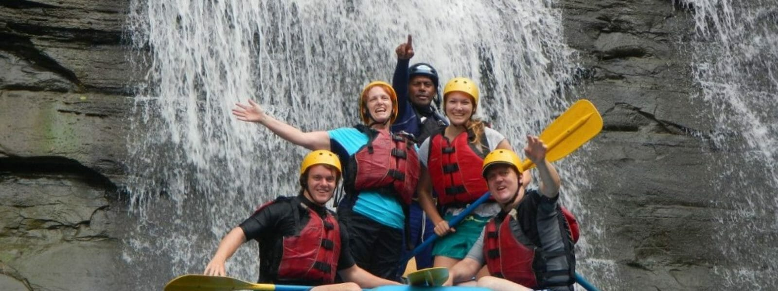 Rivers Fiji white water rafting in the remote Navua River in Fiji